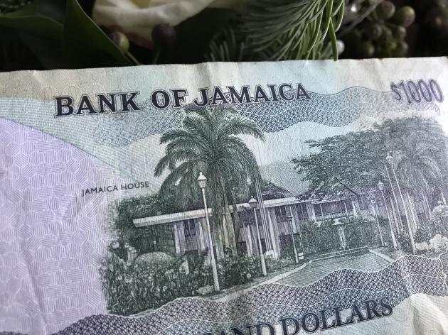 A Jamaican $1000 bill showing the Jamaica House side | Credit: Tanya Thompson