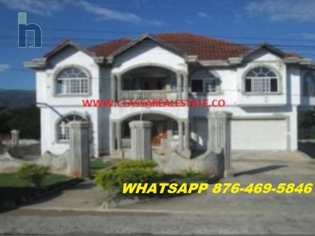 Photo #1 of 8 - Property For Sale at RIDGEVIEW AVENUE, Santa Cruz, St. Elizabeth, Jamaica. House with 5 bedrooms and 5 bathrooms at JMD $19,600,000. #392.